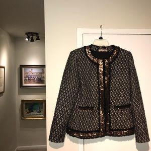 Alice + Olivia Tweed Sequin Jacket